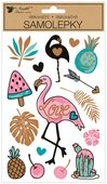 Stickers 14 x 25 cm, Flamingo
