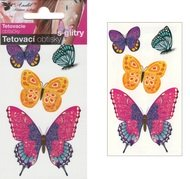 Glitter Tattoo Stickers 10,5x6 cm - Butterflies