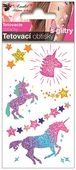 Glitter Tattoo Stickers 10,5x6 cm- Unicorns