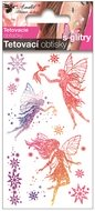 Glitter Tattoo Stickers 10,5x6 cm- 3 Fairies