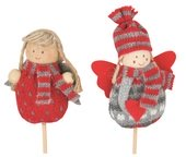 Knitted Angel on Stick 8 cm + Stick