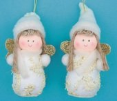 Hanging Fabric Angel 8 cm