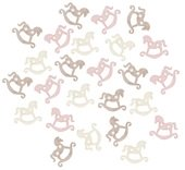 Wooden Rocking Horses 2 cm, 24 pcs