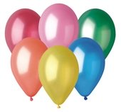 Balloons metallic, 26 cm, 10 pcs in bag, color mix