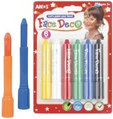 Face and Body Crayons á 4,7 g,  6 COLOURS