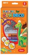 Glass Deco Set 6 colors 10,5 ml + 6 suncatchers DINO