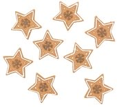 Stars, Brown, 3 cm, 6 pcs